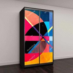 """Шкаф купе с фотопечатью """"Акварель абстрактный красочный фон с фантастическими элементами"""""""