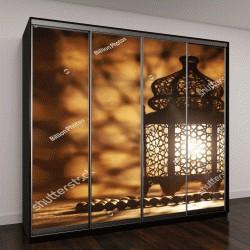 """Шкаф купе с фотопечатью """"Декоративный арабский фонарь с горящей свечой"""""""