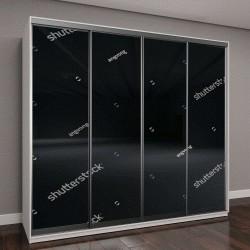 """Шкаф купе с фотопечатью """"черные бетонные стены"""""""
