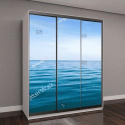 """Шкаф купе с фотопечатью """"Синие волны моря """""""