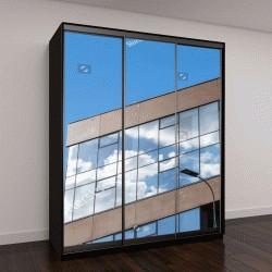 """Шкаф купе с фотопечатью """"Городские офисные здания с современной архитектурой"""""""