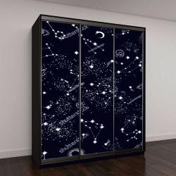 """Шкаф купе с фотопечатью """"Космос, галактика, созвездие """""""