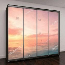 """Шкаф купе с фотопечатью """"спокойное море с закатным небом"""""""
