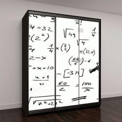 """Шкаф купе с фотопечатью """"Рукописные математические уравнения """""""