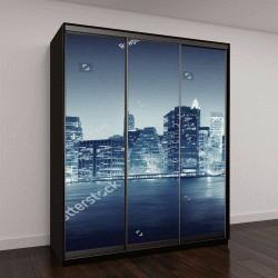 """Шкаф купе с фотопечатью """"Городской пейзаж Нью-Йоркских зданий """""""