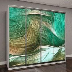 """Шкаф купе с фотопечатью """"Абстрактная живопись в яркие оттенки зеленого"""""""