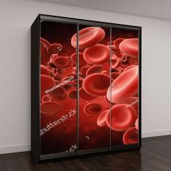 """Шкаф купе с фотопечатью """"3D визуализация, красные кровяные клетки"""""""