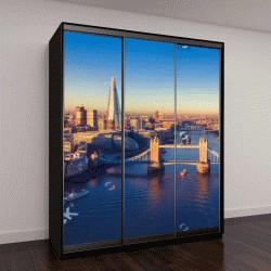 """Шкаф купе с фотопечатью """"панорамный вид на городской пейзаж Лондона и реки Темзы, Англия, Великобритания"""""""