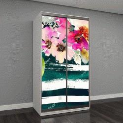 """Шкаф купе с фотопечатью """"Открытка с цветами"""""""