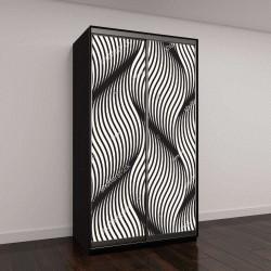 """Шкаф купе с фотопечатью """"Бесшовные шаблон с геометрическими волнами"""""""