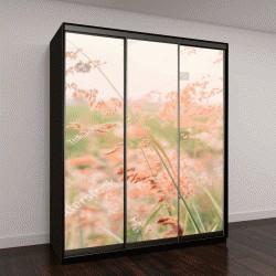 """Шкаф купе с фотопечатью """"поле цветов, розовые цветы"""""""