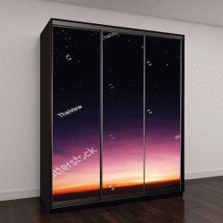 """Шкаф купе с фотопечатью """"закатное небо, восход солнца """""""