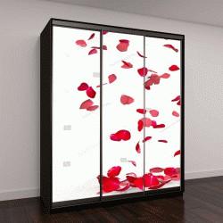 """Шкаф купе с фотопечатью """"Лепестки розы падают на пол"""""""