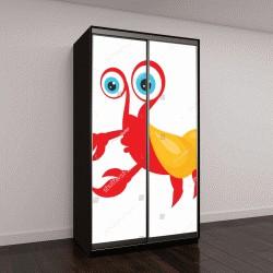 """Шкаф купе с фотопечатью """" Ядовитое пресмыкающееся с восемью ногами и жалом с ядом в мультипликационный персонаж, представляющий Скорпиона  """""""