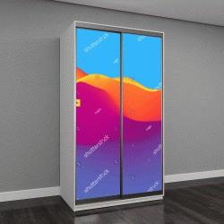 """Шкаф купе с фотопечатью """"разноцветные 3Д волны"""""""