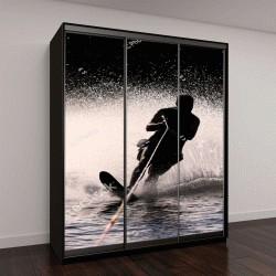 """Шкаф купе с фотопечатью """"Силуэт водного лыжника"""""""