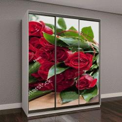 """Шкаф купе с фотопечатью """"Роскошный букет из красных роз """""""