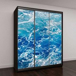 """Шкаф купе с фотопечатью """"Голубая пенистая поверхность морской воды"""""""