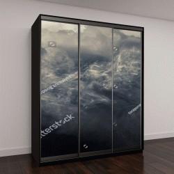 """Шкаф купе с фотопечатью """"дым и облака"""""""