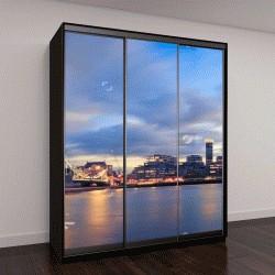 """Шкаф купе с фотопечатью """"Панорама Тауэрский мост на закате в Лондоне, Великобритания"""""""