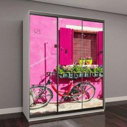 """Шкаф купе с фотопечатью """"Дом с розовой стеной"""""""