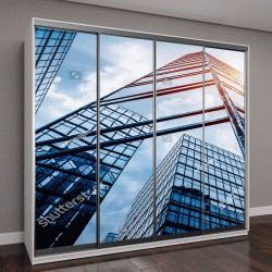 """Шкаф купе с фотопечатью """"вид снизу небоскребов в Шэньчжэне,Китай"""""""