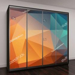 """Шкаф купе с фотопечатью """"Абстрактный фон, состоящий из треугольников"""""""