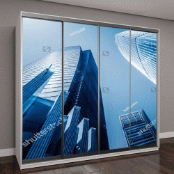 """Шкаф купе с фотопечатью """"современное офисное здание, Шанхай, Китай """""""