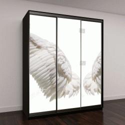 """Шкаф купе с фотопечатью """"Крылья ангела, изолированные на белом фоне с отсечения части"""""""
