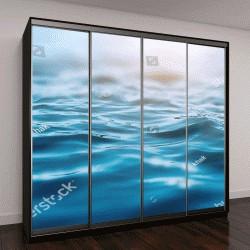 """Шкаф купе с фотопечатью """"волны океана"""""""
