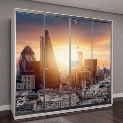 """Шкаф купе с фотопечатью """"Восход солнца над Лондоном, Великобритания"""""""