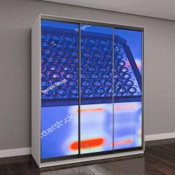"""Шкаф купе с фотопечатью """"Анализ ДНК в лаборатории"""""""
