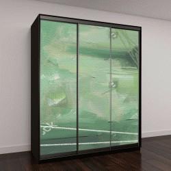 """Шкаф купе с фотопечатью """"картина маслом на холсте, зеленые оттенки"""""""