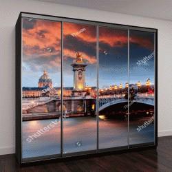 """Шкаф купе с фотопечатью """"Мост Александра 3, Париж, Франция"""""""