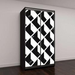 """Шкаф купе с фотопечатью """"абстрактный геометрический узор"""""""