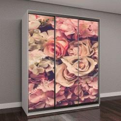 """Шкаф купе с фотопечатью """"Розовые розы фон"""""""