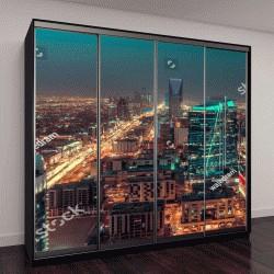 """Шкаф купе с фотопечатью """"Саудовская Аравия, пейзаж в ночное время """""""