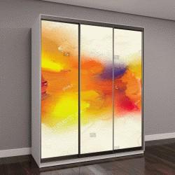 """Шкаф купе с фотопечатью """"Абстрактные красочные картины маслом на холст текстуру"""""""