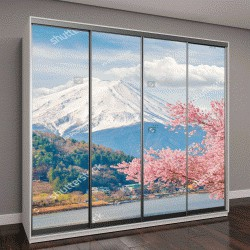 """Шкаф купе с фотопечатью """"Гора Фудзи весной, Япония"""""""