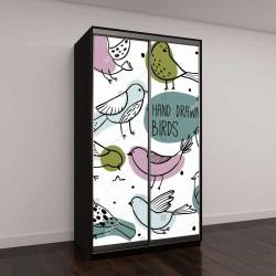"""Шкаф купе с фотопечатью """"Коллекция красочных птиц"""""""