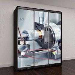"""Шкаф купе с фотопечатью """"иследования на масс-спектрометре в современной научно-исследовательской лаборатории"""""""