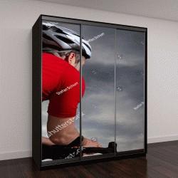 """Шкаф купе с фотопечатью """"триалист на велосипеде"""""""