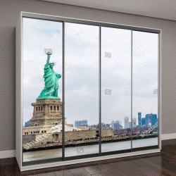 """Шкаф купе с фотопечатью """"Статуя Свободы, Нью-Йорк, США"""""""
