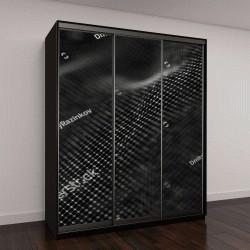 """Шкаф купе с фотопечатью """"абстрактный футуристический рисунок """""""