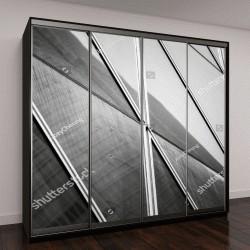 """Шкаф купе с фотопечатью """"коммерческое здание из стекла"""""""