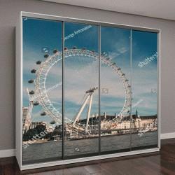 """Шкаф купе с фотопечатью """"колесо обозрения, Лондон, Великобритания"""""""