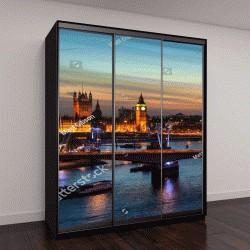 """Шкаф купе с фотопечатью """"пейзаж Лондона ночью"""""""