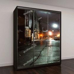 """Шкаф купе с фотопечатью """"Пустые улицы в вечернее время в Лексингтон, штат Кентукки, США"""""""