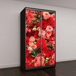 """Шкаф купе с фотопечатью """"Абстрактный фон из цветов"""""""