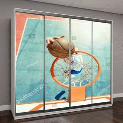 """Шкаф купе с фотопечатью """"Молодой человек играет в баскетбол"""""""